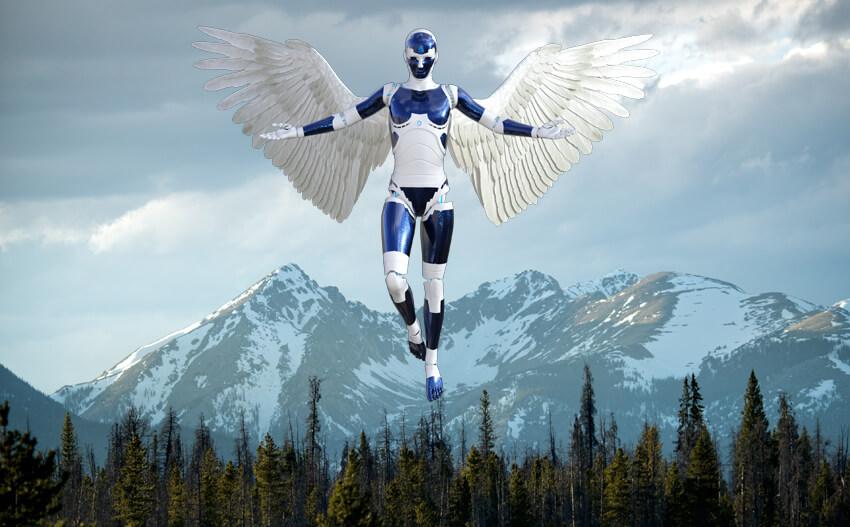 Transformação Digital - Imagem de um Anjo Robótico